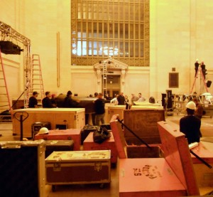 3AM Event Setup at Grand Central Terminal